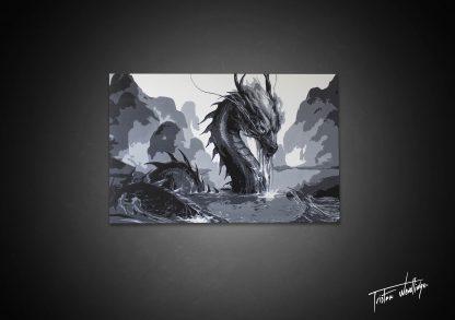Dragon tableau décoration contemporain