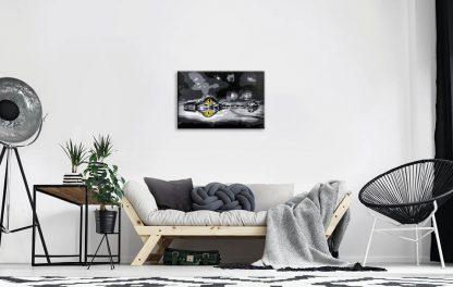 oeil crocodile tableau décoration contemporain